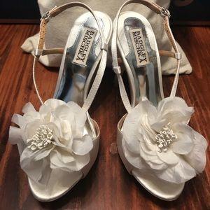 Badgley Mischka Zabrina Flower Bridal Heels